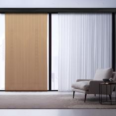 Coffee-Bronze Degrade Tulle Curtain | Japanese Art Works Combine