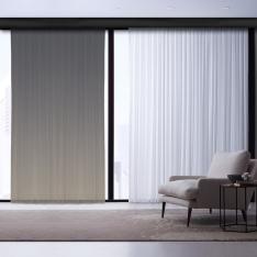 Brown Tones Degrades Single Tulles Curtain | Masterpieces Kombin