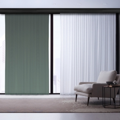 Dark Green Degrade Tulle Curtain | Masterpieces Combine