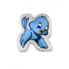 Mavi Kuş Biblo Yastık - Orman Ailesi