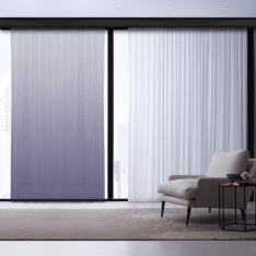 Purple-White Degrade Tulle Curtain | Masterpieces Combine