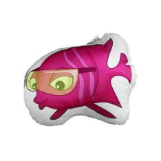 Pink Fish Trinket Pillow- Underwater Orchestra