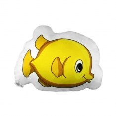Yellow Fish Trinket Pillow - Underwater Orchestra
