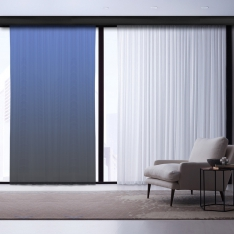 Black-Blue Degrade Tulle Curtain | Interstellar Combine