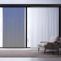 Soil-Cobalt Blue Degrade Tulle Curtain | Masterpieces Combine