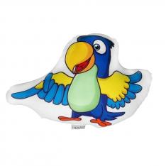 Mavi Papağan Biblo Yastık - Tropikal Kankalar