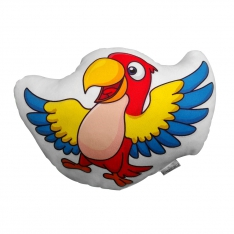Red Parrot Trinket Pillow - Tropical Buddies