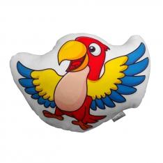 Kırmızı Papağan Biblo Yastık - Tropikal Kankalar