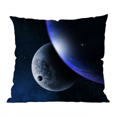 Aurora Lights and Planets Cushion