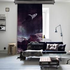 Satürn Tek Kanat Fon Perde