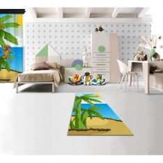Cipcici Theater Tropical Buddies Printed Carpet