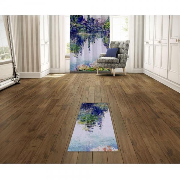 Claude Monet - Seine'de Sabah Baskılı Halı