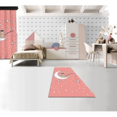 Bunny and Moon Printed Carpet