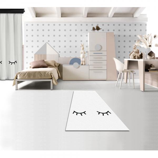 Uykucu Beyaz Baskılı Halı By İmren Gürsoy 160x230