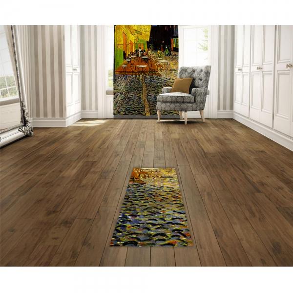 Vincent Van Gogh - Teras Kafe Baskılı Halı
