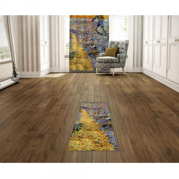 Vincent Van Gogh - Tohum Eken Baskılı Halı
