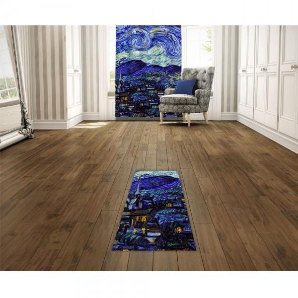 Vincent Van Gogh - Yıldızlı Gece Baskılı Halı