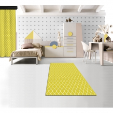 Magical Yellow Printed Carpet