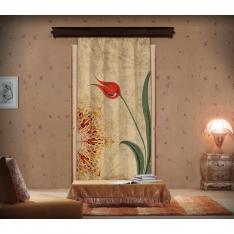 Ebru Pattern Mandala Panel Curtain