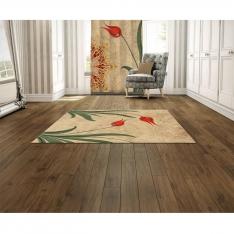 Art Of Ebru Figured Mandala Printed Carpet