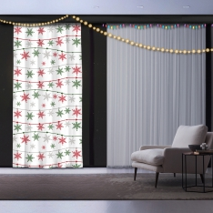 Snowflakes and Christmas Panel Curtain