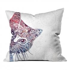 Mandala Desenli Kedi Kırlent