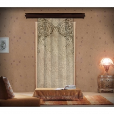 Mandala Patterned Elephant  Curtain