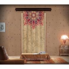 Pink and Purple Aged Mandala Panel Curtain