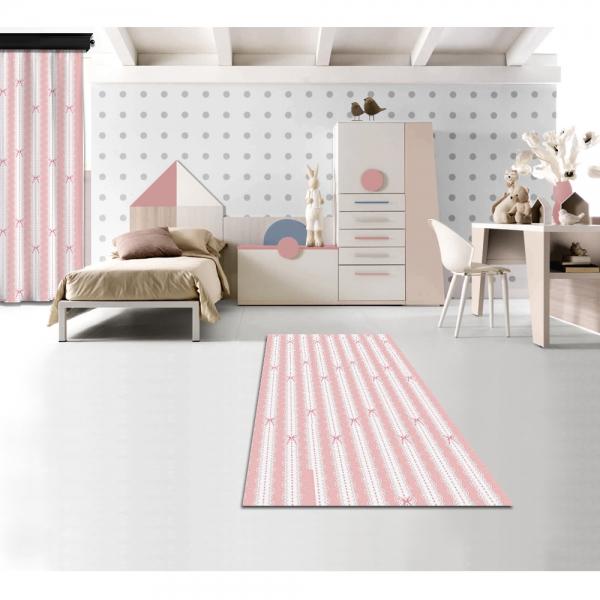 Romantic Lace Patterned Printed Carpet