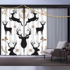 New Year's Eve 2 Pieces Panel Curtain