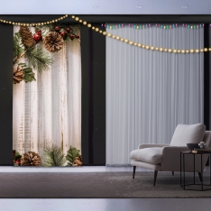 New Year's Concept Panel Curtain