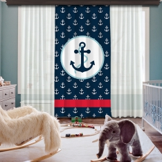 Anchor Composition One Piece Curtain