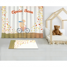 Cipcici Bear Printed Carpet