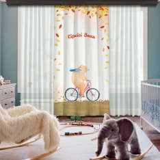 Cipcici Bear One Piece Curtain