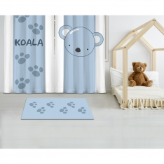 Cipcici Koala Printed Carpet