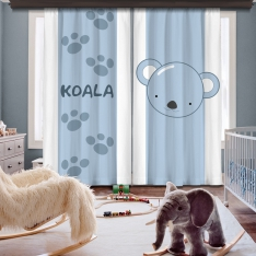 Cipcici Koala 2 Panel Curtain