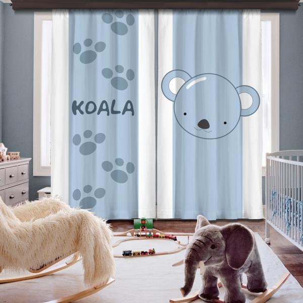 Cipcici Koala İki Kanat Fon Perde
