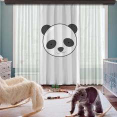 Cipcici Panda Tek Kanat Fon Perde