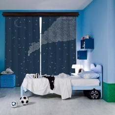Story and Cloud 2 Piece Blackout Curtain