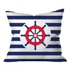 Blue-White Rudder Pillow