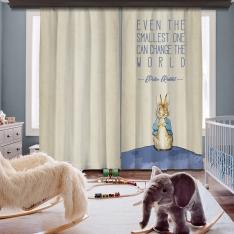 Peter Rabbit Dünyası İki Kanat Fon Perde