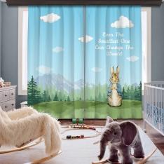 Peter Rabbit İki Kanat Fon Perde