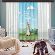 Peter Rabbit One Piece Curtain
