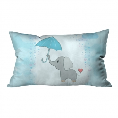 Umbrella Elephants Model 2 Pillow