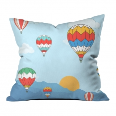 Flying Balloons Pillow