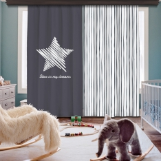 Star İn My Dreams 2 Panel Curtain