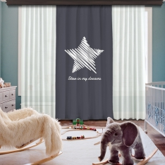Star İn My Dreams Panel Curtain Model 1