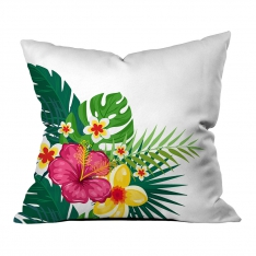 White Summer Flowers Pillow
