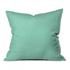 Yellow-Mint Green Summer Flowers Model 2 Pillow