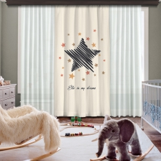 Star İn My Dreams Panel Curtain Model 3
